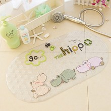 High Quality Multi-Pattern Cute Cartoon Animal Pattern Dots PVC Non- Slip Bath Mat Bathtub Shower 69*38cm
