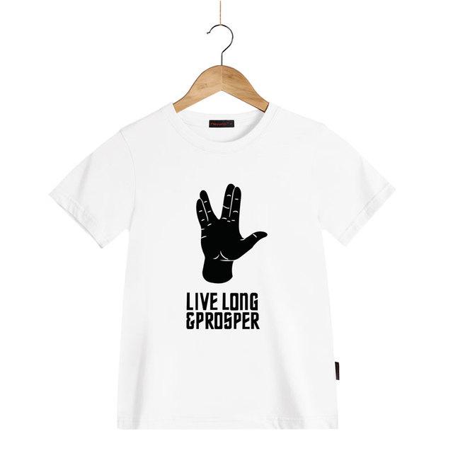 CHAUDE LONGUE VIE ET PROSPÉRITÉ SPOCK STAR TREK T de Chemises Enfant D'été Casual T-shirts De Mode T-shirts pour Enfants