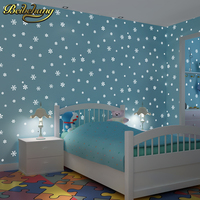 Beibehang Papel De Parede 3D Children S Room Luminous Moon Snowflakes Wallpaper For Walls 3 D