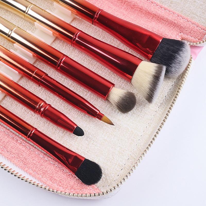 Tesoura de Maquiagem bolsa de ouro e vermelho Usado Com : Kits e Conjuntos