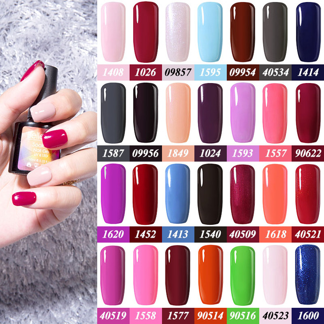 Belle Fille 10ml Color Nail Gel Polish Sweet Candy Colors Uv Led Manicure Varnish Top