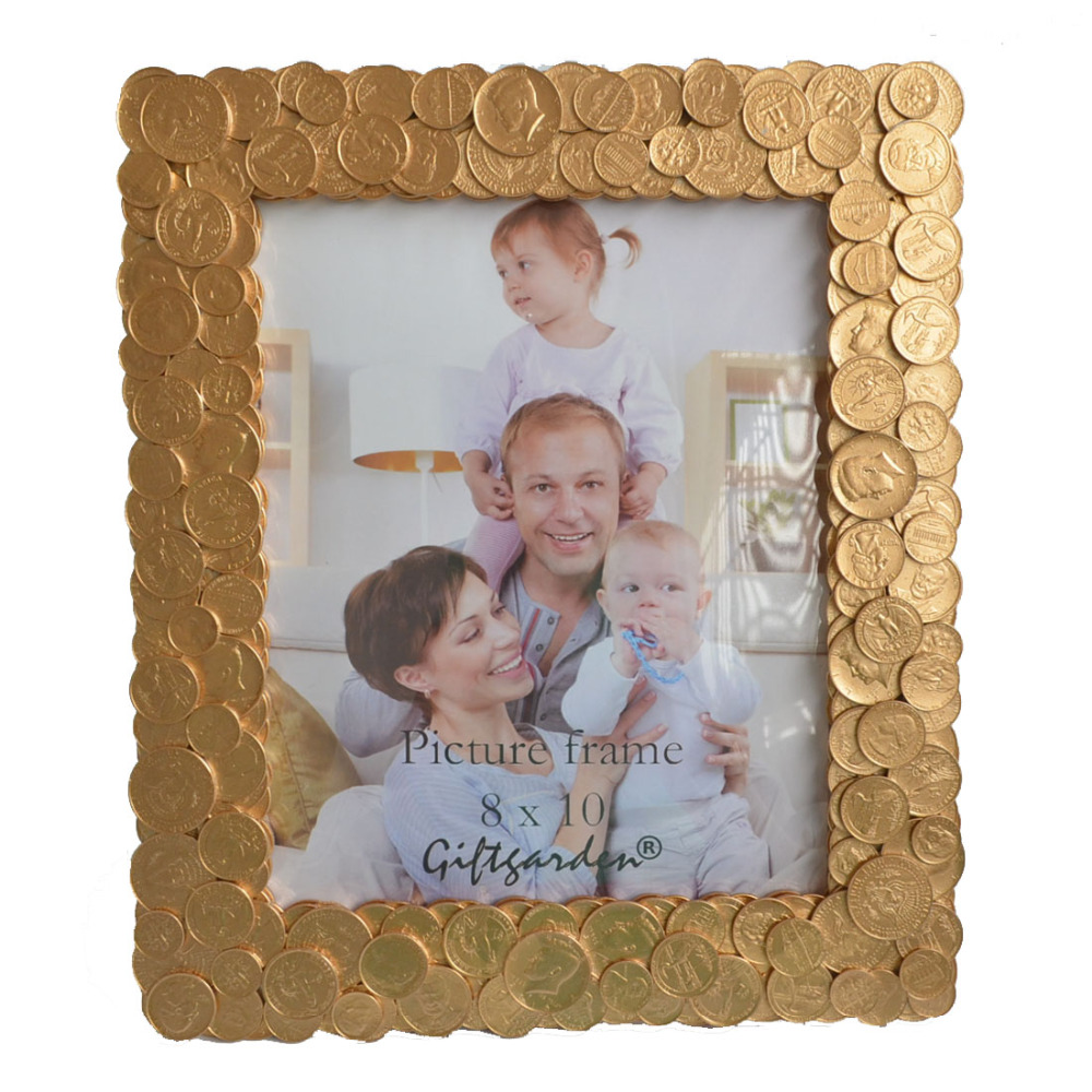 8x10 Coins Edging Frames For Photo Display Unique Photo Frame ...