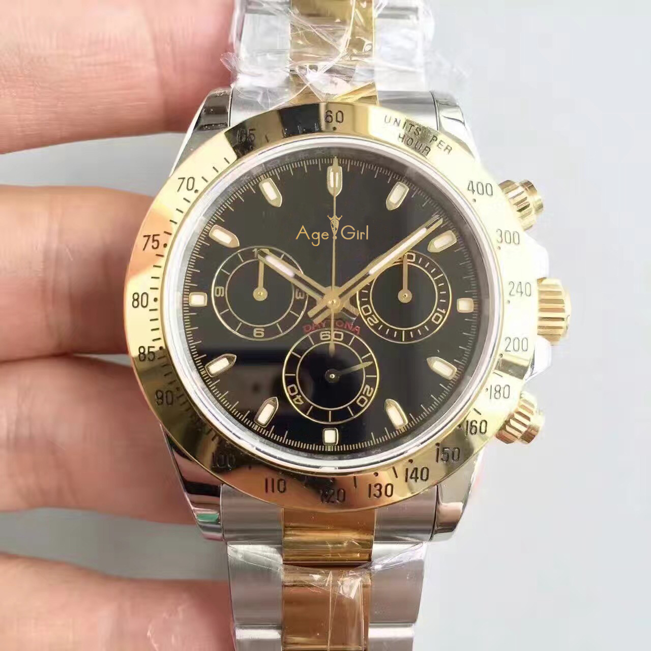 Здесь можно купить  Luxury Brand New Men Watch Automatic Mechanical Gent Daytona Style Full Stainless Steel Silver Gold Black Watches Sapphire AAA+  Часы