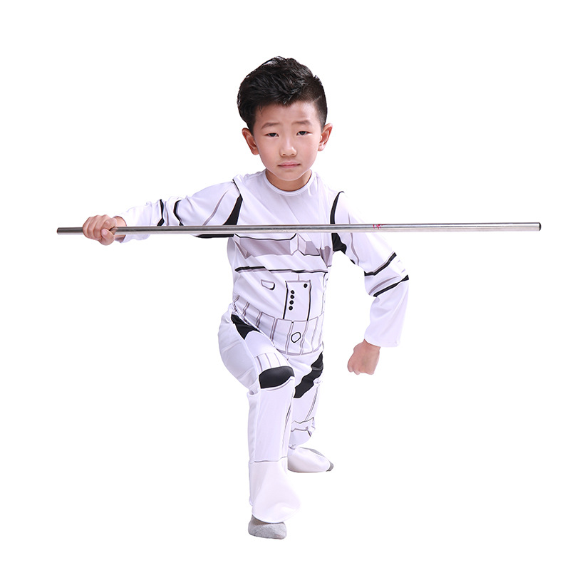 Halloween cos Star Wars clothing children Das Vinda clothes white soldiers outfit cos mxj0144e