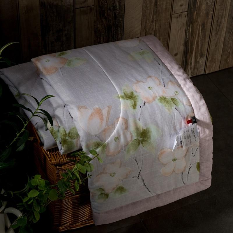 ايوسل نسيج القطن والكتان الغنية الزهور طباعة الفاخرة المفرش بطانية السرير غطاء لحاف 150*200 سنتيمتر و 200*230 سنتيمتر-في مفرش سرير من المنزل والحديقة على  مجموعة 1