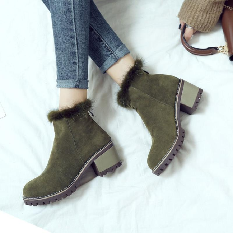 ankle boots for women winter boots women snow female chelsea boots ladies martin boot chinese shoes woman hot sale &X17-3 2016 hot sale male snow boots genuine leather ankle suede snow boots winter shoes for men and women mens boot shoe 35 48