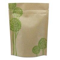 Brown Kraft Paper Zipper Bag Stand Up Pouch Food Packaging Tea Nuts Beans Zip Lock Resealable