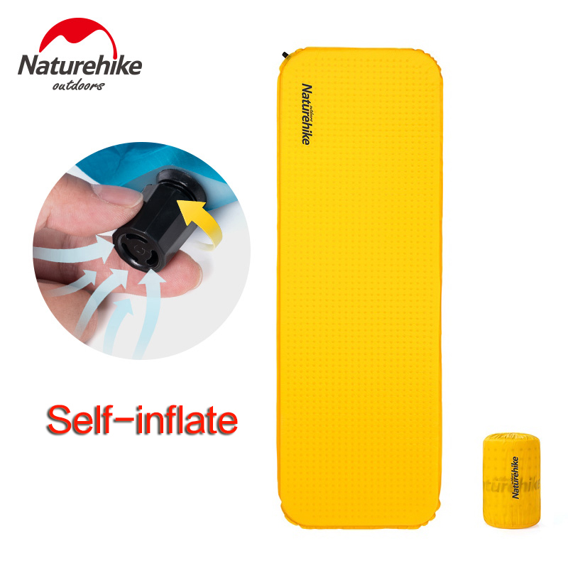 Ultralight Outdoor Camping Sleeping Pad Self Inflating Air Mattress Moisture proof Pad Compact Inflatable Mat for