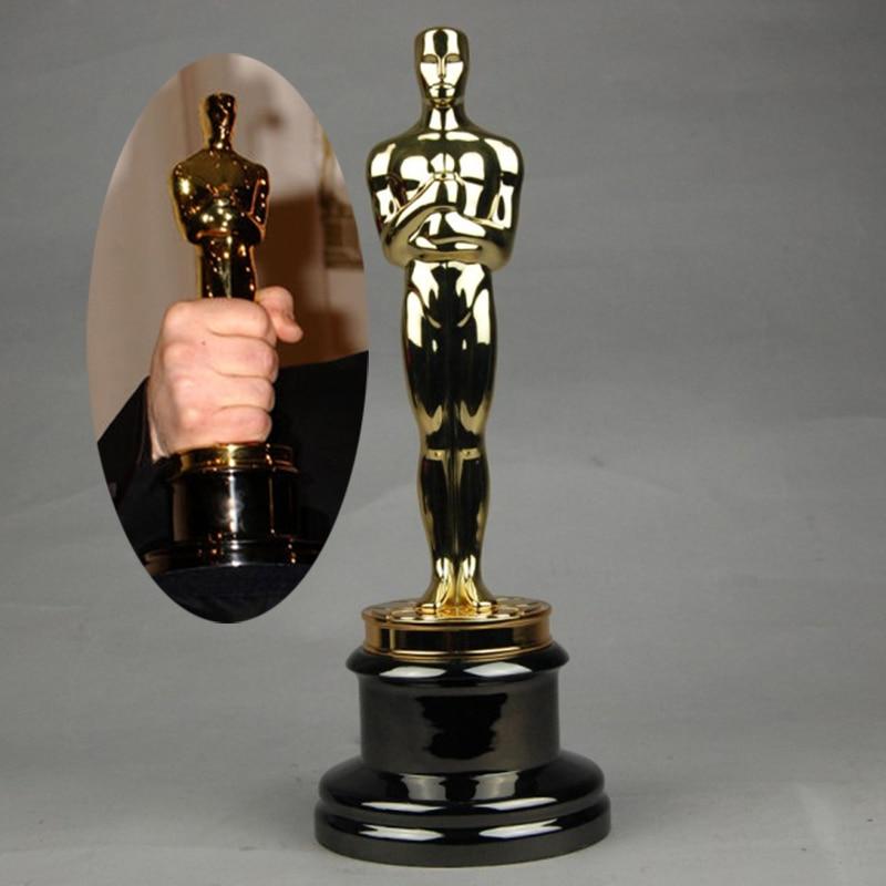 Ogrm oscar trophy statue award gold plated 1 1 oscars for Oscar home