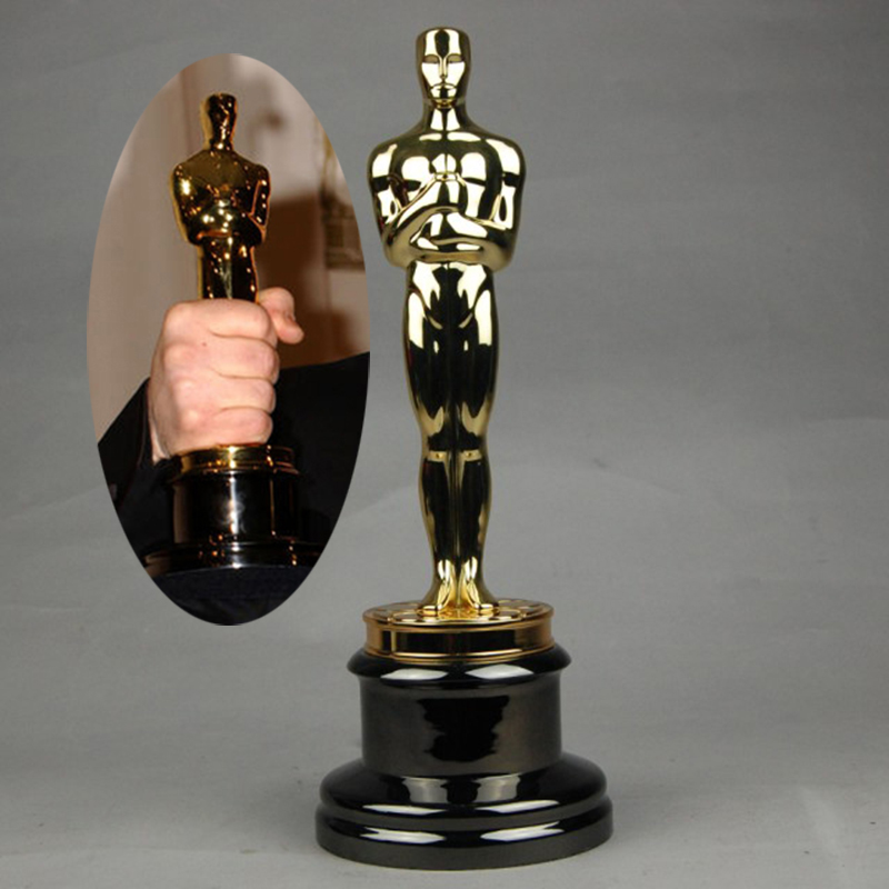 OGRM Oscar Trophy Statue Award Gold plated 1:1 Oscars Statuette 100% Prototype Replica Fast Shipping For Collection Gift