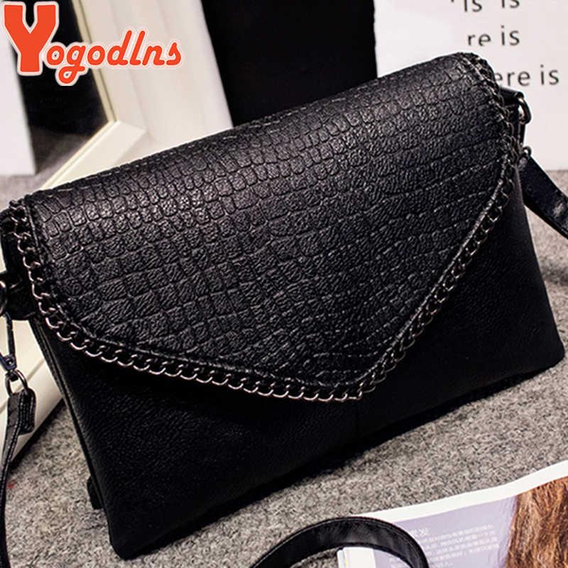 Yogodlns 2020 małe kobiet miękkie skórzane torebki proste Style Messenger torby PU Crossbody na ramię koperta torba Chic panie sprzęgła