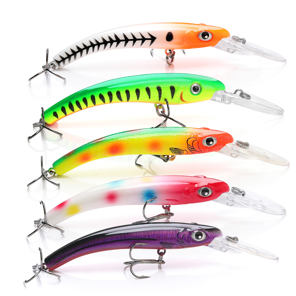 Image 5 - TREHOOK Minnow Fishing Lures Wobblers for Trolling/Pike Fishing 10cm 9.5g Floating Fake/Hard Baits Black Minnow Lure Trout-in Fishing Lures from Sports & Entertainment