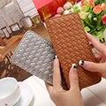 New Women PU Leather Wallet 2016 Lady Wallet Long Section Knit Woven Pattern Money Clip Slim Short Wallet #GYD0135