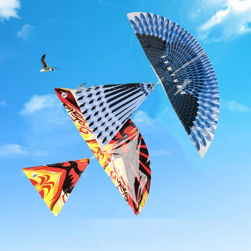 Colorful Rubber Band Powered Flying Bird Windmill Funny Classic Toy For Children Color Random Delivery