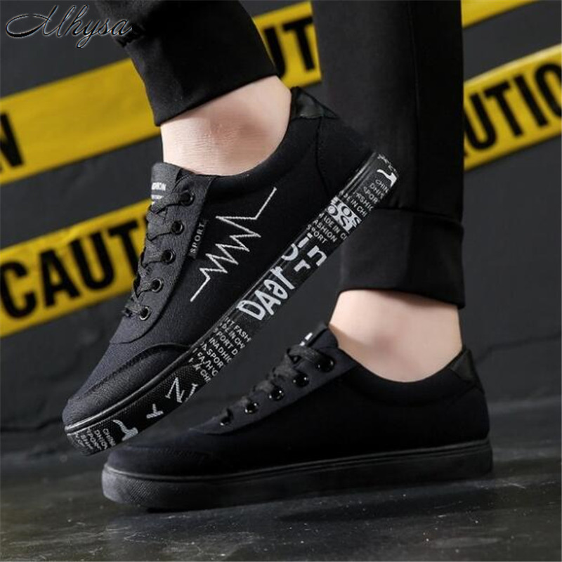 Mhysa 2019 New Men's Fashion  Spring Breathable Casual Shoes Canvas Shoes Low To Help Comfortable Men's Flat Shoes Sneakers L340