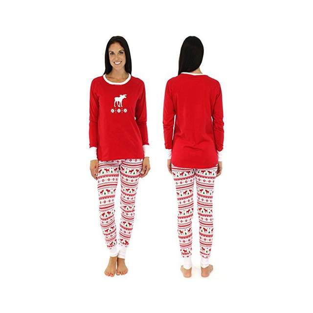 596faef048 Matching Family Christmas Pajamas Kids Baby Boys Adult Deer Pajama Sets  Children's Pajama For Couples Ladies