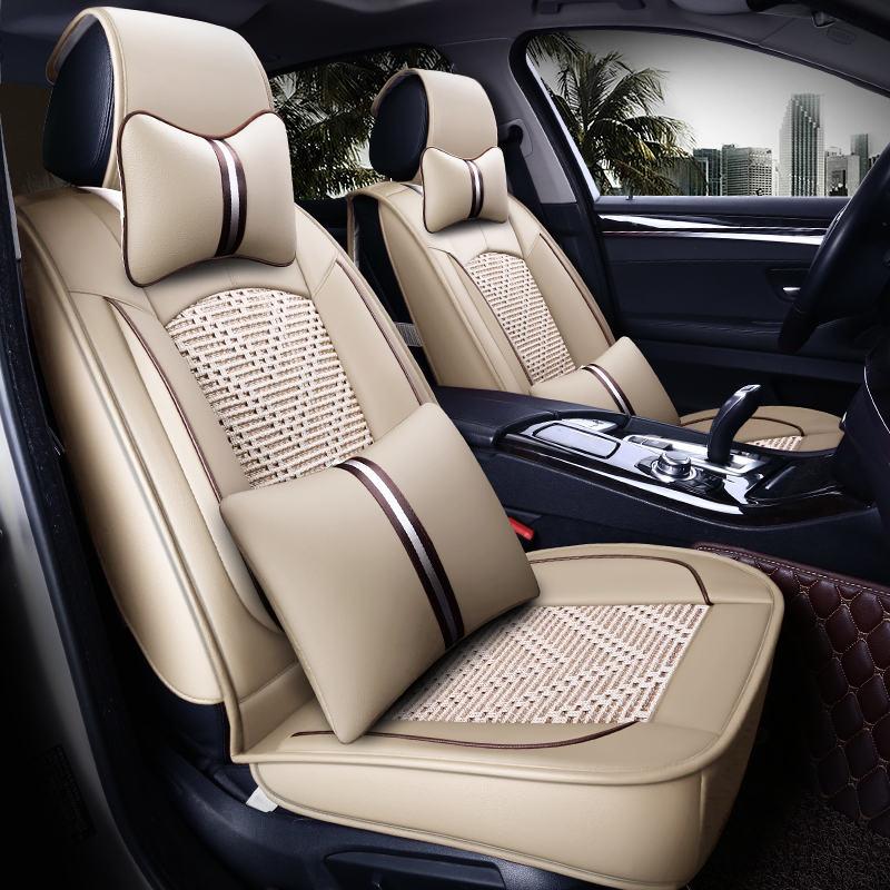Nouvelle housse de siège de voiture, coussin de siège universel, soie de glace en cuir Senior, coussin de voiture, style de voiture de Sport, style de voiture pour berline SUV - 2