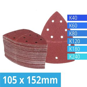 Image 1 - Pack of 120 Hook and Loop Sanding Sheets 105 x 152 mm Grit 20 Each of 40/60/80/120/180/240 Sandpaper for Multi Sander Bosch