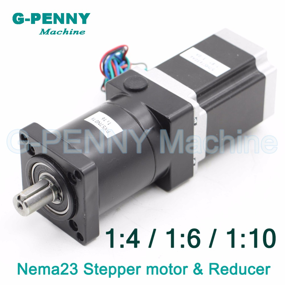 CNC NEMA23 Stepper motor 57X76mm with Nema23 Planetary Reduction Ratio 1:4 / 1:6 / 1:10 planet gearbox 57 motor speed reducer 1 16 nema23 stepper motor planetary reduction ratio 16 1 planet gearbox 57 motor speed reducer high torque high quality
