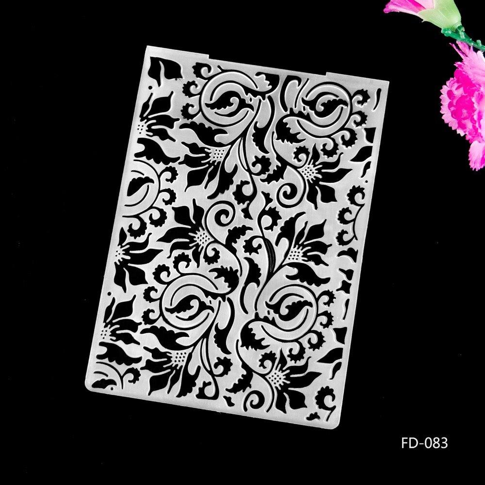 2017 New Arrival Scrapbook Plants Design DIY Paper Cutting Dies Scrapbooking Plastic Embossing Folder