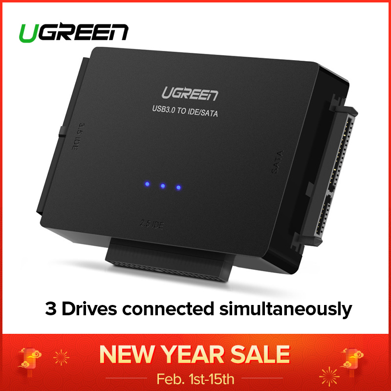 Ugreen SATA a USB IDE adaptador USB 3,0 de 2,0 Sata 3 Cable para 2,5 de 3,5 de disco duro HDD SSD convertidor USB IDE adaptador SATA