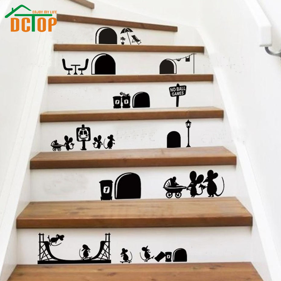 Home Art Decor Wall Decals ~ Aliexpress buy dctop new arrival cartoon mouse vinyl