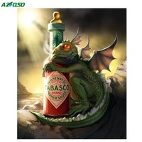 AZQSD Diamond Painting Dragon Cross Stitch 5D DIY Diamond Embroidery Needlework Home Decoration Diamond Mosaic BB2126
