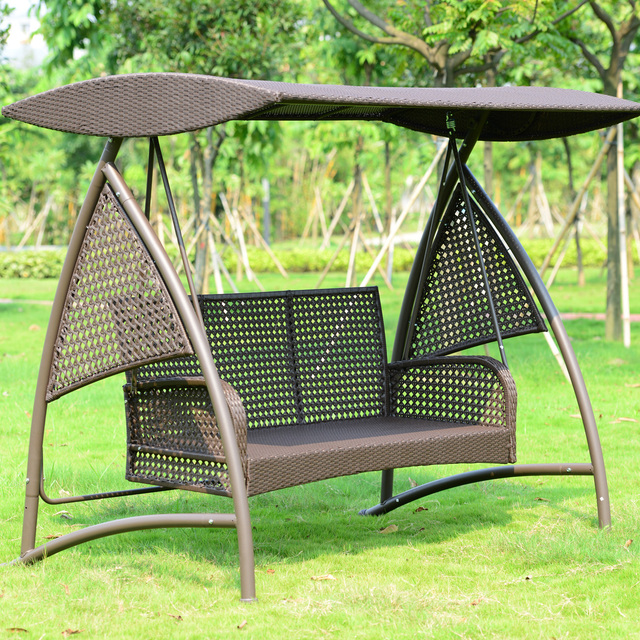 hanging chair double desk keeps sinking outdoor swing rattan rocking wrought iron terrace courtyard garden basket chairs shaker