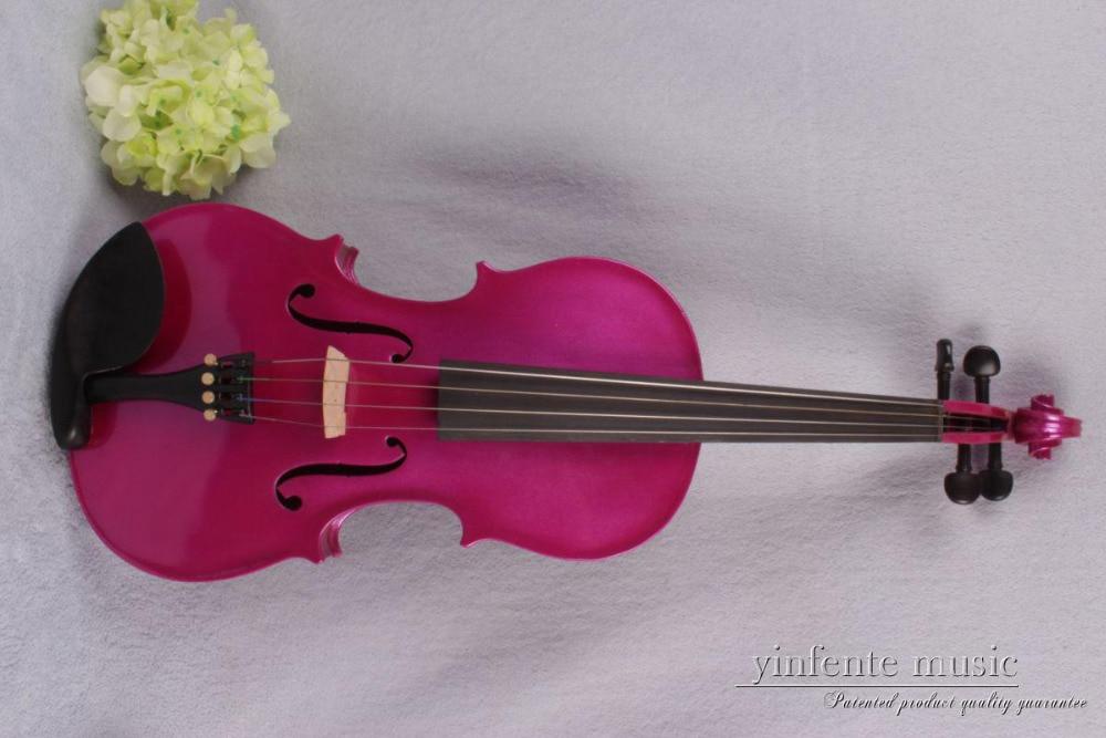 4/4 DARK PINK 4 string Electric Acoustic Violin Solid Wood Nice Sound red color BLACK WHITE BLUE 1 11#