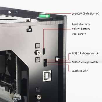 2019 hot selling NEJE DK-BL 445nm 3000mw high power DIY mini cnc bluetooth laser engraver router machine for depth engraving