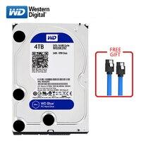 WD brand 4000GB internal hard disk 3.5 64M cache SATA3 HDD 6Gb/s 5400RPM 4TB BLUE hard disk HD hard disk for desktop computers