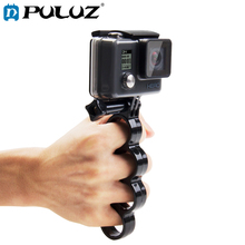 PULUZ Handheld Mount For GoPro Hero6 Plastic Knuckles Fingers Grip Ring Monopod Tripod Mount+Thumb Screw For Go Pro HEARO5 puluz for gopro motorcycle mount aluminum alloy motorcycle fixed holder mount tripod adapter screw for go pro 5 session sj6000