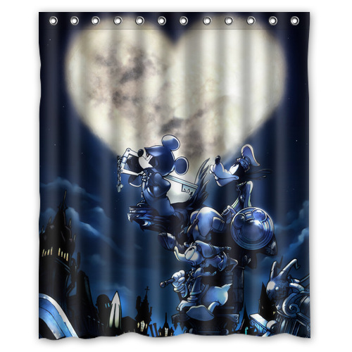 New Kingdom Hearts Personalized Shower Curtain 60 X