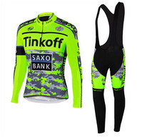 2016 Pro Team Tinkoff Cycling Jersey Long Sleeves Sports Jersey Cycling Clothing Ropa Ciclismo Maillot Bike Clothes