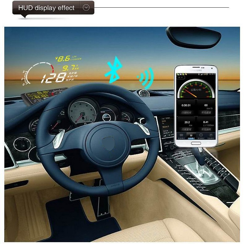 Image 4 - Car Head UP Display Auto Hud For OBDII And EUOBD 5.5 Inches Windshield Projector Alarm System Overspeed Alarm-in Car Monitors from Automobiles & Motorcycles