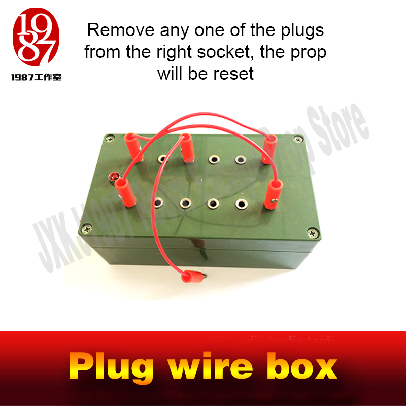 Image 3 - Escape room takagism game props plug wire box all the wires are inserted into the right sockets to unlock charmber room JXKJ1987-in Alarm System Kits from Security & Protection