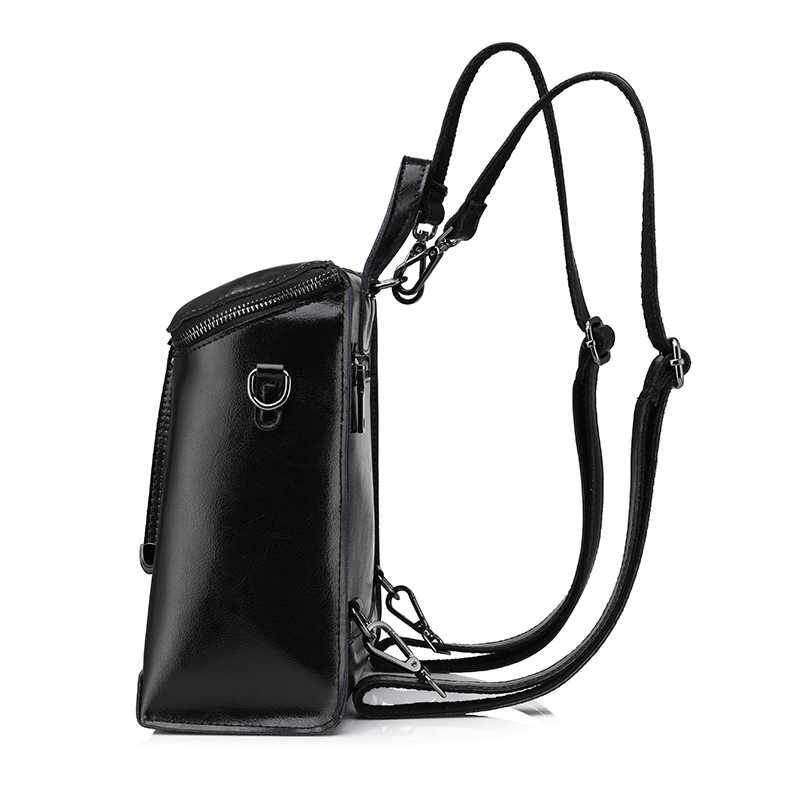 REALER бренд  женский рюкзак из высококачественной сплит-кожи, в стиле старых школьных ранцев