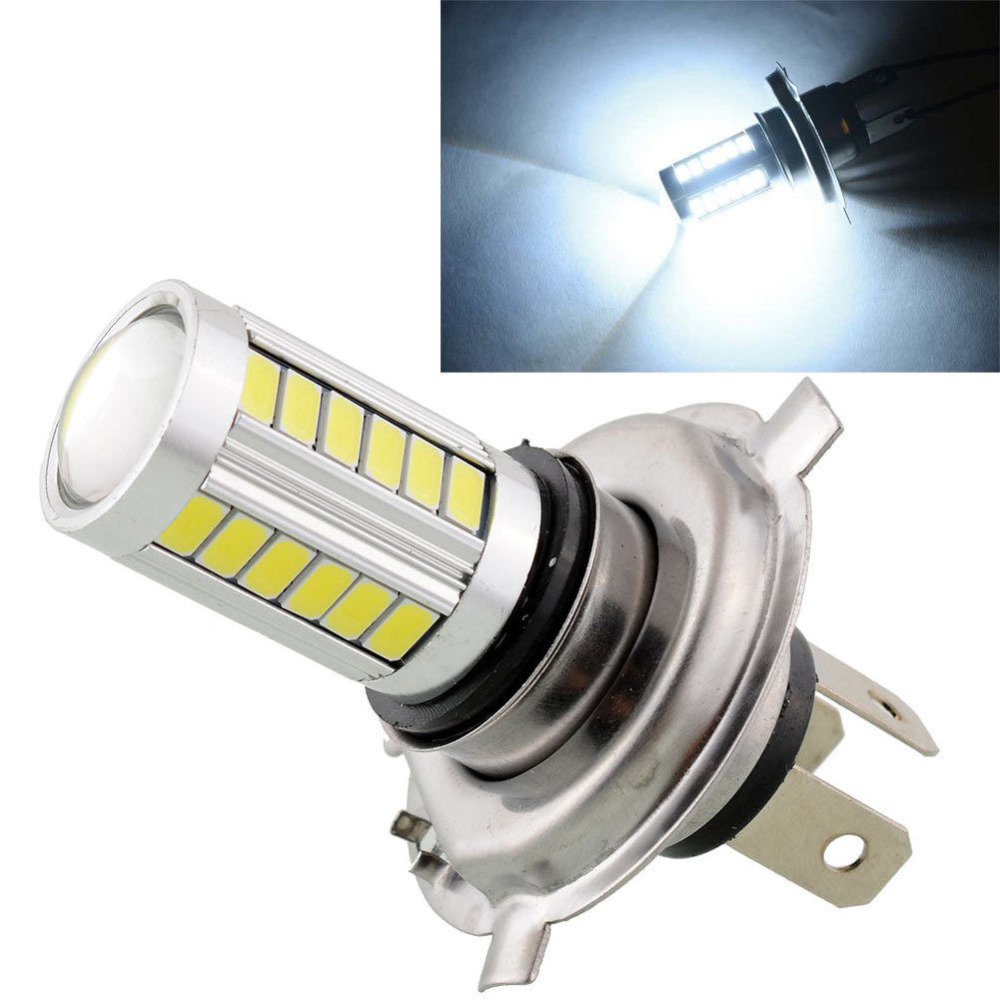 2pcs H4 Led 5630 33smd Super Bright White Car Light Source Headlight