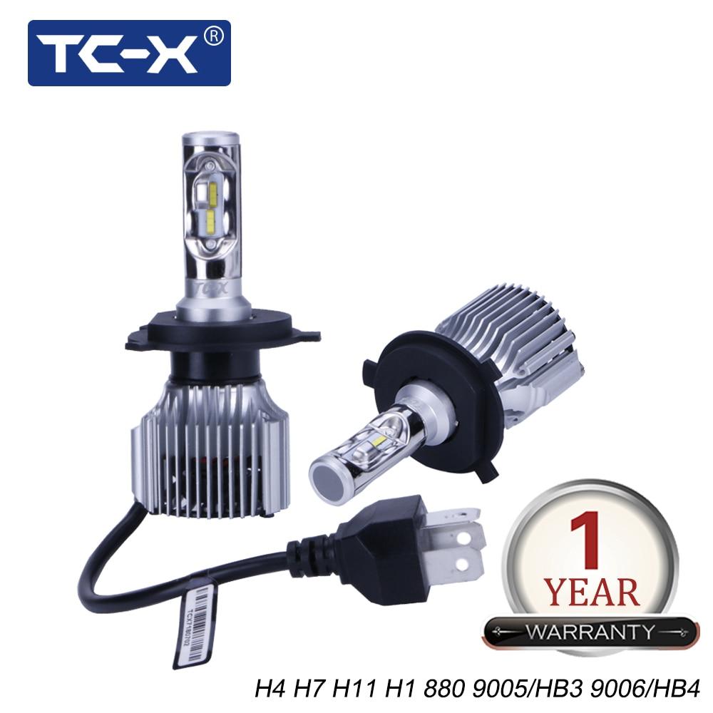 TC-X высокое Мощность H4 компактный фар автомобиля 60 w/pair 6000Lm H7 LED H11 9006 9005 H1 880/H27 автомобиля свет противотуманные