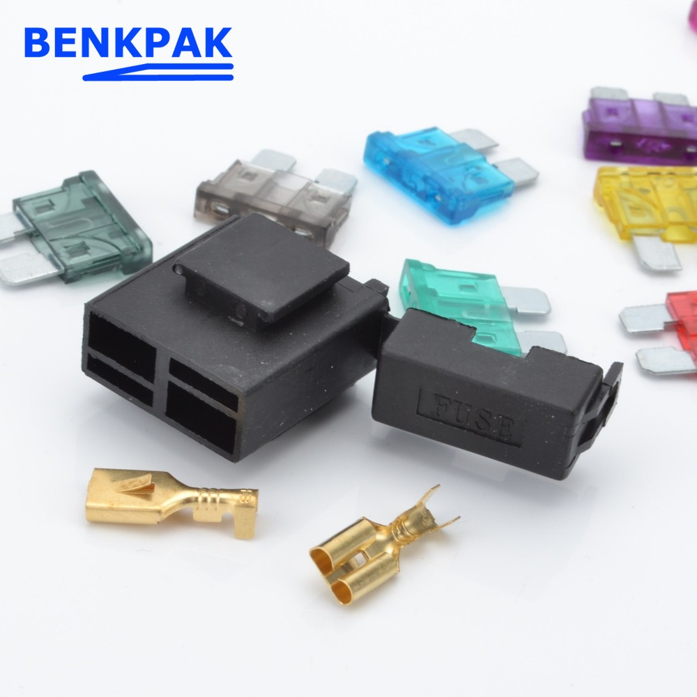 Automotive Fuse Bridge Box Tap Atc Holder In Line Awg Wire Copper Power Blade With Fuses From Home