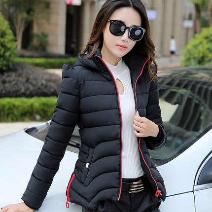 2016 A new word female cotton short paragraph Slim winter coat
