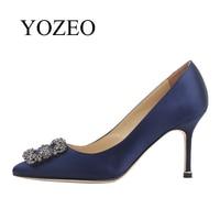 Wedding Shoes YOZEO 2018 New Fashion Valentine Gift Women Shoes Genuine Leather Elegant Lady Wedding Super High Heel Shoes Pumps