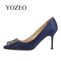 Wedding Shoes YOZEO 2018 New Fashion Valentine Gift Women Shoes Genuine Leather Elegant Lady Wedding Super High Heel Shoes Pumps
