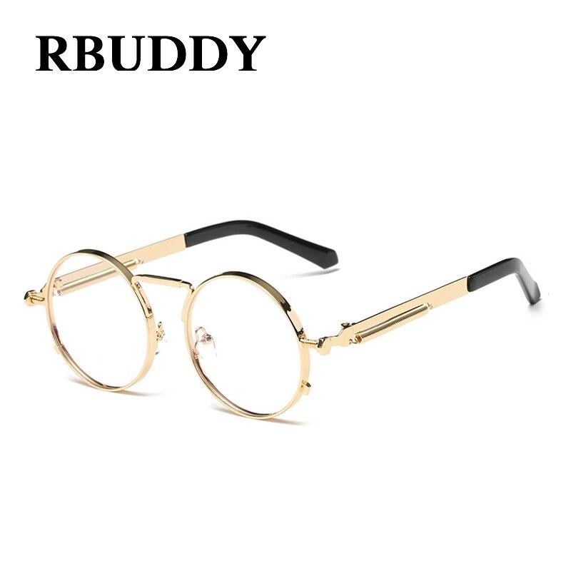 9f3cd7ec7849b RBUDDY classique Vintage Steampunk petites lunettes de soleil rondes or  métal cadre hommes femmes marque Design mode gothique lunettes de soleil  UV400 dans ...