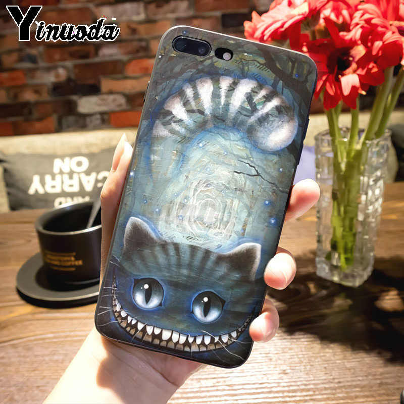 Yinuoda ための iphone 11 11pro 最大アリスでワンダーランドチェシャ猫高品質の古典的な電話ケースのための iphone 8 7 6 6S プラス X XS 最大 XR 5S 、 SE ケースカバー