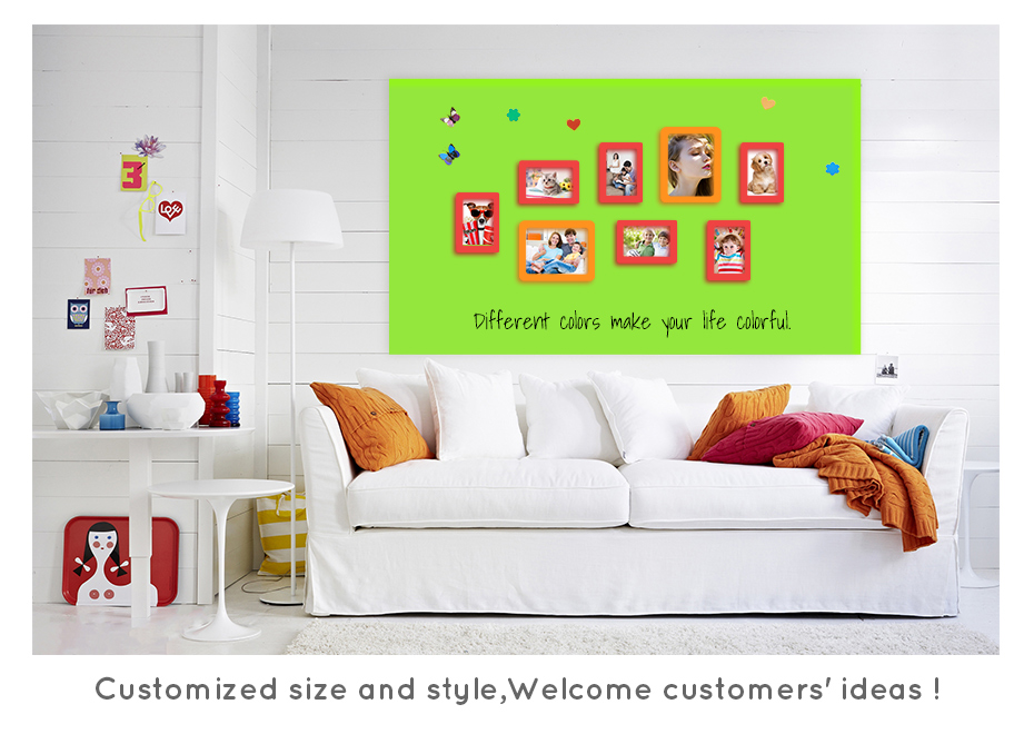 930_03New creative ferrous whiteboard DIY Green board Message Board waterproof Wall Sticker 150 cm x 100 cm x 0.6 mm