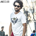 AK CLUB Brand Men T-shirt New Cuba Libre Series Skateboard Print T Shirt Short Sleeve Tshirt For Men 100% Cotton T-shirt 1600023