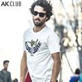 Serie AK CLUB Brand Hombres de La Camiseta Nueva Cuba libre Monopatín de la Impresión Camiseta de Manga Corta Camiseta Para Hombres, 100% Algodón Camiseta 1600023