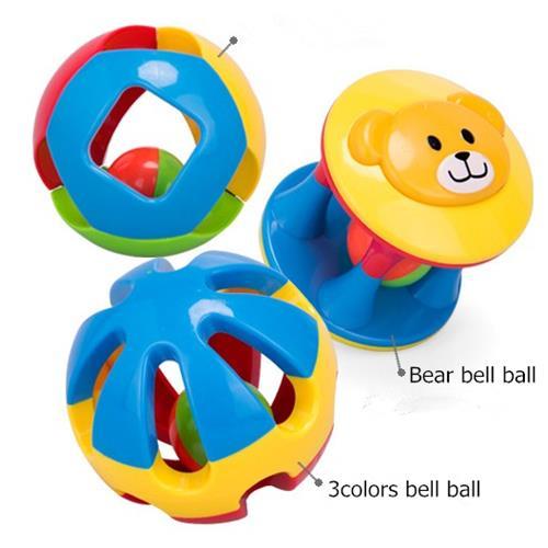 2016 Rabbed Baby Toy 3pcs Lovely Colorful Bell Ball Білімі - Балаларға арналған ойыншықтар - фото 2
