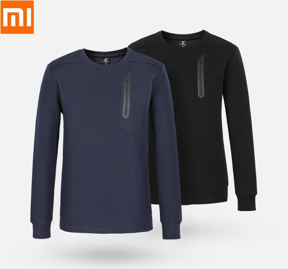 Careful Xiaomi Uleemark Fashion Men's Crew Neck Sports Sweater Skin-friendly Fabric Reflective Strip Design Spring Autumn Coat Street Price